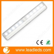 China Leadleds I-007 10-LED Wireless Motion Sensor Light Automatic with Magnetic Strip, Battery Operated, Portable for Closet, Door, Stairs Light, Hallway, Washroom, Pure White factory